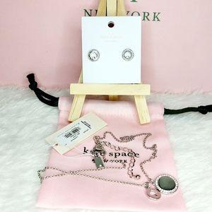 🎀 kate spade spot the spade jewelry set